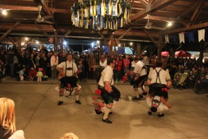 "The Schuhplattlers doing the ""Fight Dance"""